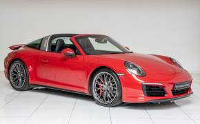 Porsche 911 3.0 4S 2dr PDK Targa Convertible Petrol Guards Red at Monument Garage Brigg